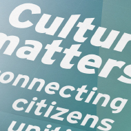 AGA Conference — Culture Matters - Visual & program - European Foundation center