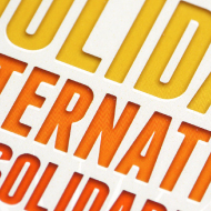 13ème Mois de la Solidarité Internationale - Poster and leaflet - Commune d'Etterbeek