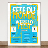 Fête du Monde - Poster and flyer - Commune d'Etterbeek
