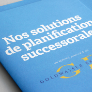 Planification successorale - Brochure - Goldwasser Exchange
