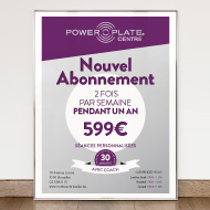 Power Plate - Posters, leaflets and flyers - Power Plate Institut