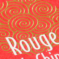 Rouge Chine - Bloc note, carte de visite, clé usb - Rouge Chine