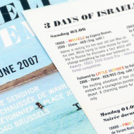 3 Days of Israeli Cinema - Affiche, flyer et programme du festival - IMAJ