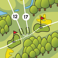 Golf map - Set de table - Golf club 7 fontaines