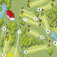 Golf map - Tableset - Golf club 7 fontaines