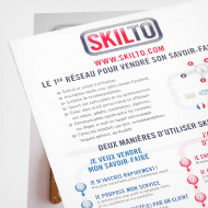 Skilto - Show me your skill! - Logo, poster and flyer - Skilto